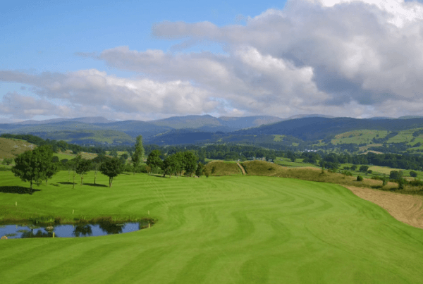 Kendal Golf Course Cumbria filmed photographed from the air by drone