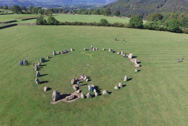 Aerial, drone, photograph, of, Castlerigg, Stone, Circle, Keswick, Cumbria, lake, district, hovershotz, skylark, Lake District