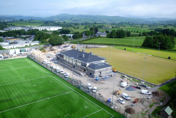 Aerial Drone Photograph of Kendal Rugby Club Shap Road Kendal Cumbria