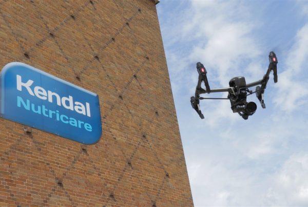 Hovershotz drone flying at Kendal Nutricare Mint Bridge Road Kendal Cumbria Lake District