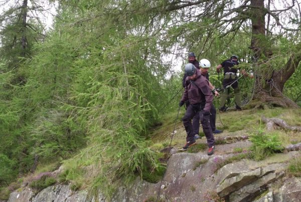 SBS Special Forces abseiling in the Lake District Cumbria drone