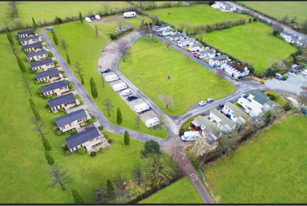 caravan park survey by drone Dandy Dinmont Caravan and Camping Site Blackford, Carlisle,Cumbria CA6 4EA lake district aerial photography lake district